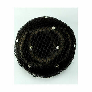 ShowQuest Bun Net with Swarovski Crystals - Pack of 5 - Black