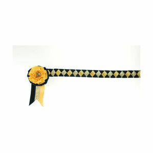 ShowQuest Newport Brow Band - Navy/Sunshine/Gold
