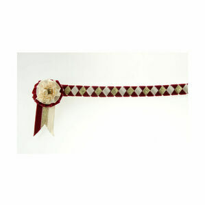 ShowQuest Newport Brow Band - Burgundy/Cream/Gold