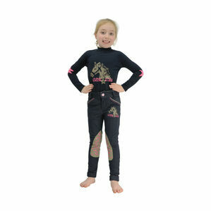 Riding Star Denim Jodhpurs by Little Rider - Denim - 9-10 years