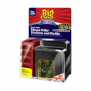 STV Ultra Power Block Bait Mouse Killer Station and Refill (STV565) - 5 x 20g
