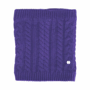 HyFASHION Meribel Cable Knit Snood - Ultra Violet - One Size