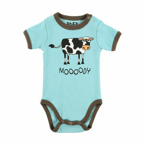 LazyOne Moody Blue Cow Creeper - Blue