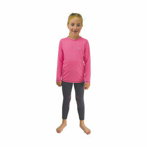 Little Rider Base Layer - Rose Pink/Navy