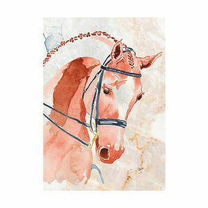 Deckled Edge A4 Watercolour Art Prints - Competition Chestnut