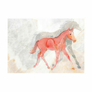 Deckled Edge A4 Watercolour Art Prints - Mare and Foal