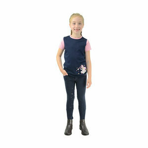 Little Unicorn Breeches by Little Rider - Navy/Candy Pink