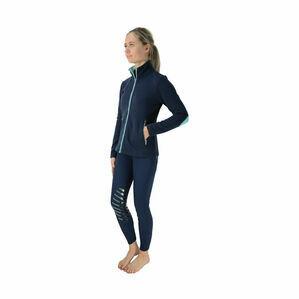 HyFASHION Mizs Beatrice Fleece Jacket - Navy/Peppermint Green