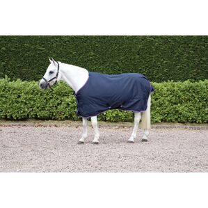 Hy Signature Lightweight 0g Turnout Rug - Navy/Red/Blue