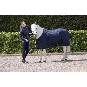 Hy Signature 100g Stable Rug - Navy/Red/Blue
