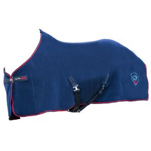 Hy Signature Fleece Rug - Navy/Red/Blue