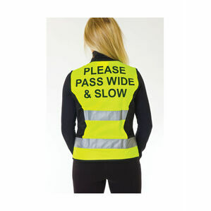 HyVIZ Waistcoat - Please Pass Wide & Slow - Yellow/Black