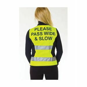 HyVIZ Waistcoat - Please Pass Wide & Slow - Yellow/Black