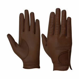 Hy5 Children\'s Leather Riding Gloves - Brown