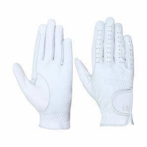 Hy5 Children\'s Leather Riding Gloves - White