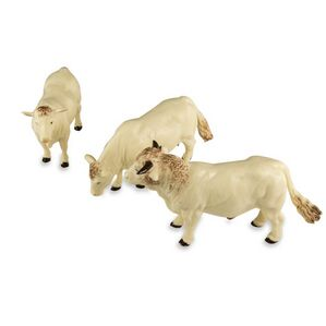 Britains Charlais Cattle Replica Toys - Set of 3