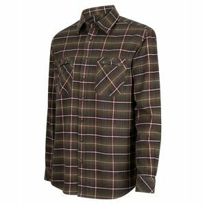 Hoggs Countrysport Luxury Hunting Shirt - Olive/Wine