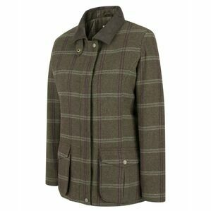 Hoggs Musselburgh Ladies Tweed Field Coat - Bracken Tweed