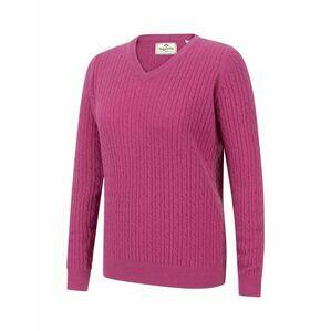 Hoggs Lauder Ladies Cable Pullover - Cerise