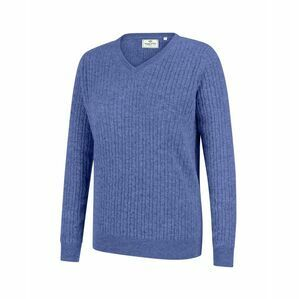 Hoggs Lauder Ladies Cable Pullover - Violet