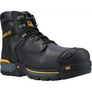 Caterpillar Excavator Lace Up Safety Hiker Boot in Black