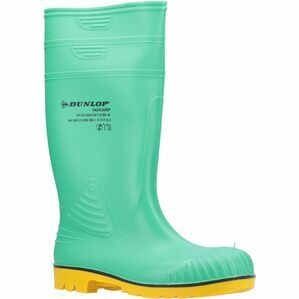 Dunlop Acifort HazGuard Safety Wellington Boot in Green/Black/Yellow