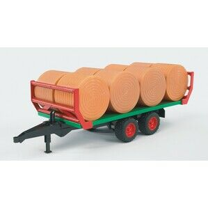 Bruder Bale transport trailer with 8 round bales toy