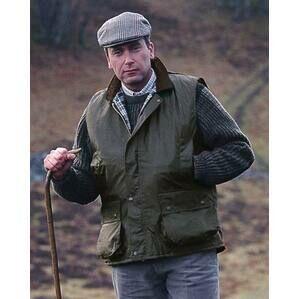 Hoggs Of Fife Olive Green Waxed Waistcoat