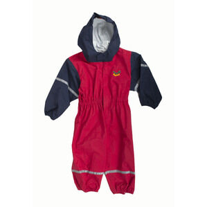 Keela Waterbug Children's Waterproof All In One Suit - Red/Navy