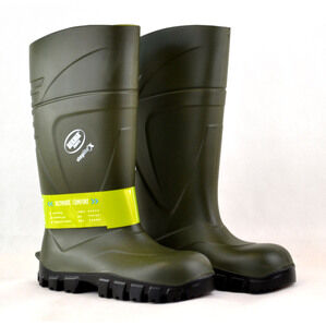 Bekina Steplite X Green Safety Wellington Boots