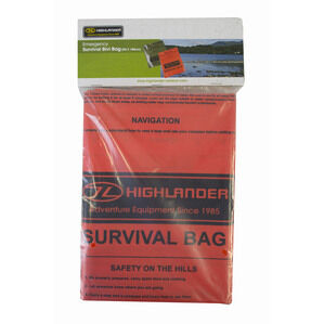 Highlander Emergency Camping Survival Bag - Orange