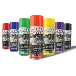 Nettex Promark Aerosol Spray - Professional sheep marker - Various Colours