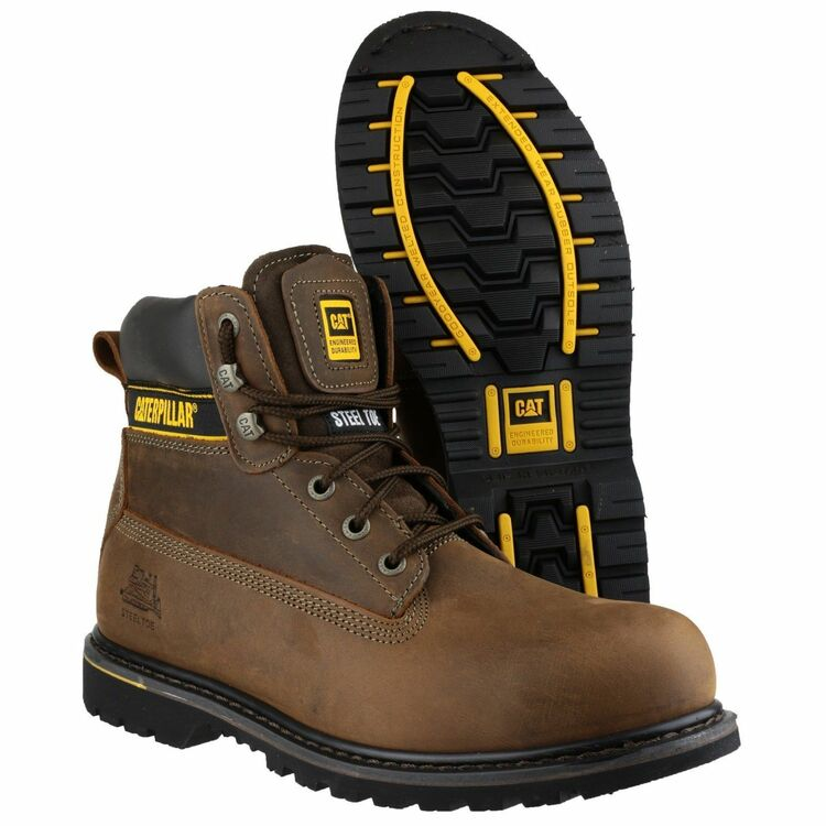 8852527cd58d9 ... Caterpillar Holton Lace Up Work Boots (Brown) additional 3 ...