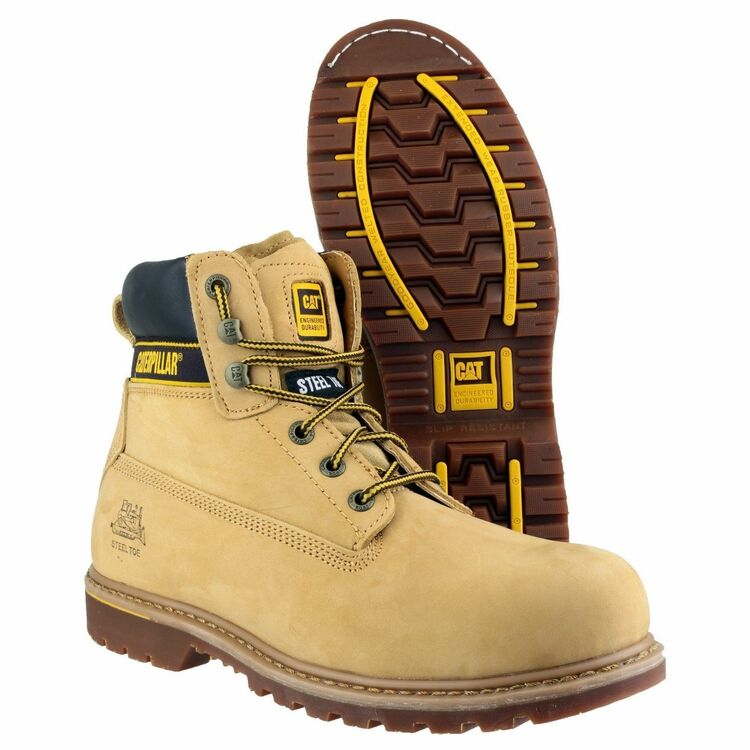 35d3334ce3f57 ... Caterpillar Holton Lace Up Safety Boots (Honey) additional 3 ...