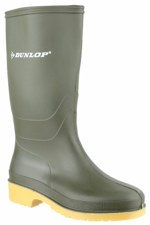 5c0bc3f441dd Dunlop Dull Wellington Boots (Green) from £10.40