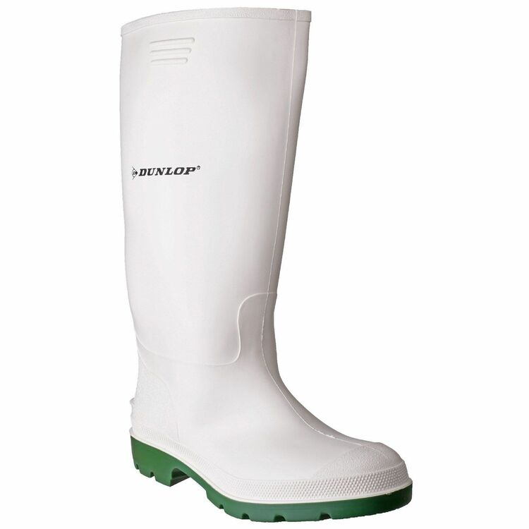 490c353c737 Dunlop Pricemastor Wellington Boots (White Green) additional 1 ...