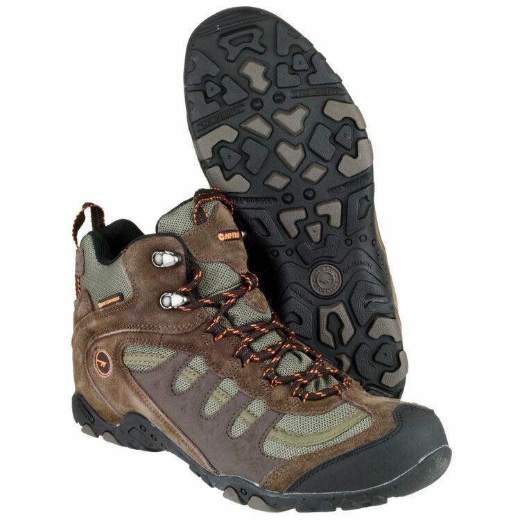 Hi-Tec Penrith Mid WP walking boots chocolate//taupe//orange