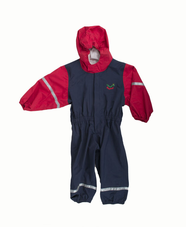69795cd21a641b Keela Waterbug Children's Waterproof All In One Suit - Navy/Red additional 1  ...