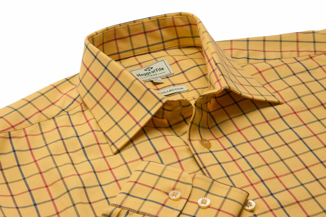 8f92ae5f865b Hoggs Of Fife Governor Premier Tattersall Shirt from £27.50