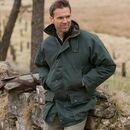 Hoggs Of Fife Men's Padded Waxed Jacket - Olive Green additional 1