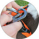MIRO& MAKAURI Carabiner Nylon Dog Leads - 1.5 x 120cm additional 2