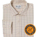 John M Cotton Pink/Burgundy/Grey Check Mens Country Cotton Shirt additional 1