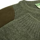 Hoggs of Fife Melrose Hunting Pullover in Marled Green additional 3