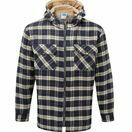 Castle Penarth Fleece Lined Hoodie Shirt - Navy additional 1