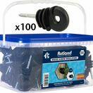 Rutland Bucket Wood Screw Insulator Pack of 100 15-329 R additional 1