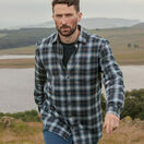 Hoggs Orkney Blue Check Flannel Shirt additional 2
