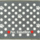 Pet Rebellion Mini Mate Dotty Dog Bowl Mat - Grey (30 x 40cm) additional 2