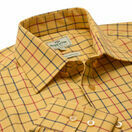 Hoggs Of Fife Governor Premier Tattersall Shirt - Gold Check additional 2