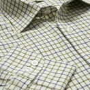 Hoggs Of Fife Pure Cotton Tattersall Checked Shirt - Navy/Green additional 2