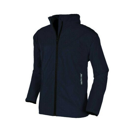 Mac in a Sac 2 Unisex Kids Packaway Raincoat Jacket - NAVY